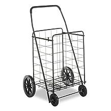 Whitmor 6318-2678 Deluxe Rolling Utility Cart, Black