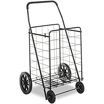 Whitmor Deluxe Utility Cart - Durable Folding Design for Easy Storage