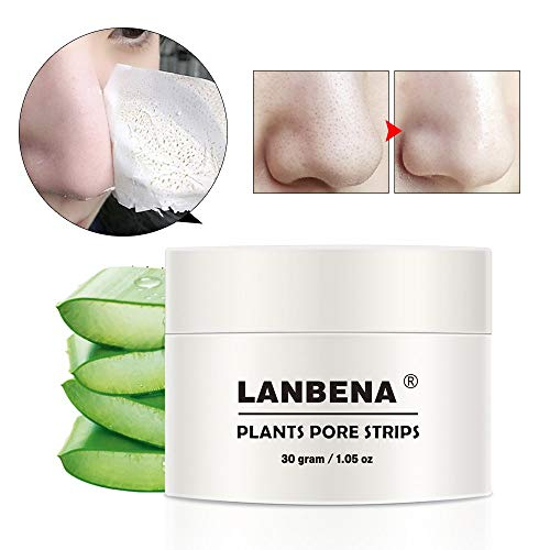 Black Mask, LANBENA Blackhead Mask Blackhead Remover Mask Peel off Mask Facial Pore Cleanser Purifying Face Mask Nose strips (1.05 Ounce) - White