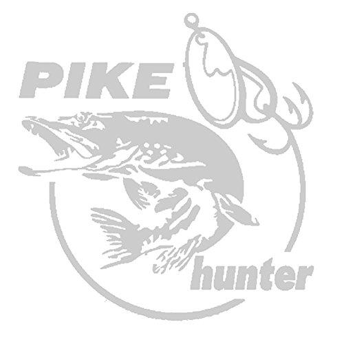 Connoworld Clearance Sale Funny Pike Hunter Fish Car Sticker Reflective PET Decal Auto Door Window Laptop Decor