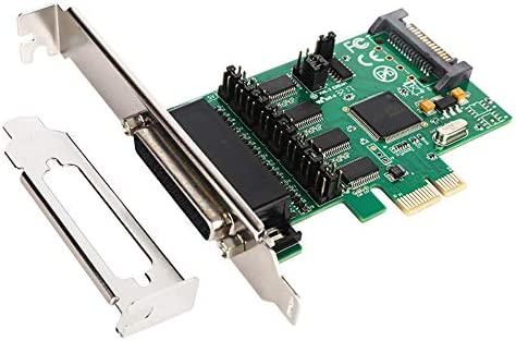 4 DB-9 Serial rs232 Ports pcie Controller Card with 1 TTL Port with Fan-Out Cable