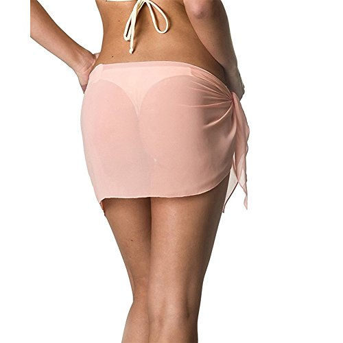 Delle Gonna Coprire Donne 2017 Rosa Nuova Di Bikini Abito Pants Ibaste Beach Chiffon Solido Colore qPEzwxC