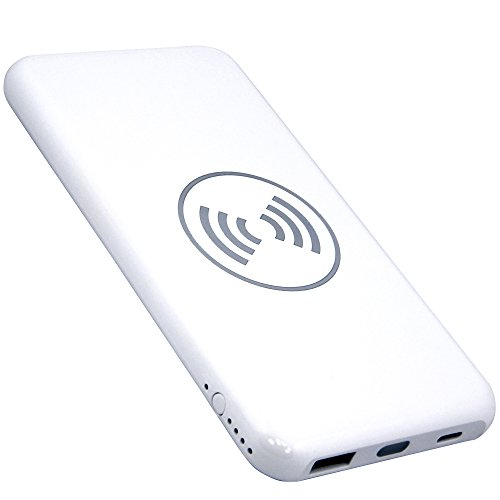 Click to buy Fast Wireless Portable Charger 10000 mAh by Inniko - External Power Bank for charging iPhone, Samsung Galaxy, iPad and more w/ cable or wireless - 2 USB ports - Slim Design External Battery - From only $38.99