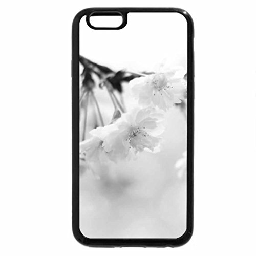 iPhone 6S Plus Case, iPhone 6 Plus Case (Black & White) - Flowers