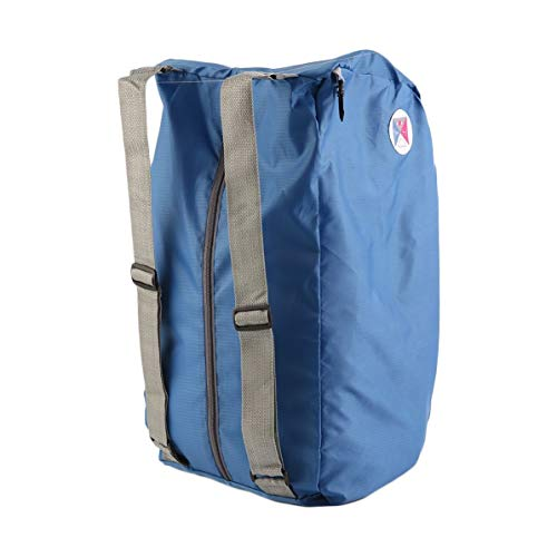 Foldable Polyester Shoulder Bag Multifunctional Backpack Practical Beach Travel Knapsack Durable Mountaining Bag