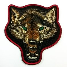 Face Wolf Appliques Hat Cap Polo Backpack Clothing Jacket Shirt DIY Embroidered Iron On / Sew On Patch for Men and Women For collection By MODBEAT SHOP