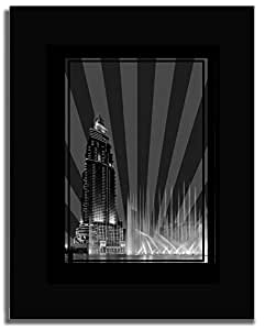 Address Hotel Down Town- Black And White No Text F04-m (a3) - Framed
