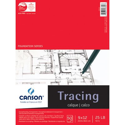 Foundation Series Tracing Paper [Set of 12] Size: 9'' x 12'' by Canson