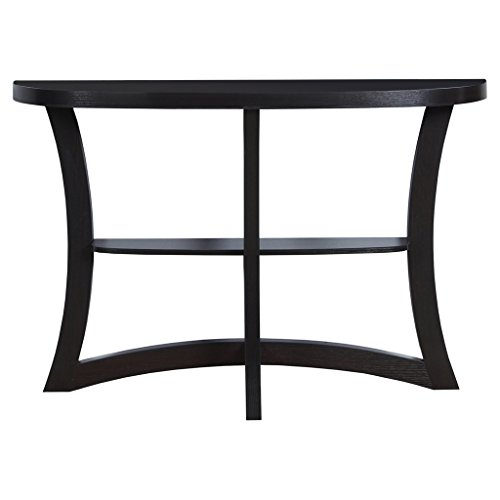 """Monarch Two Tier Hall Console Accent Table, 47"""", Cappuccino"""