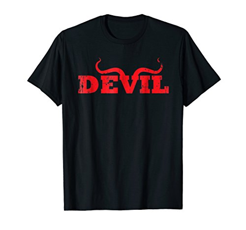 Devil Satan Horns Costume Pajama No Angel T Shirt ()