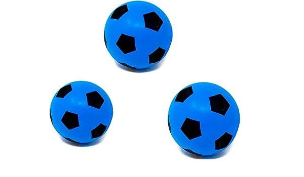 E-Deals Pack de 3 pelotas de espuma de 17,5 cm para interiores y exteriores, pelota de fútbol de espuma suave, gran diversión para adultos, niños y niñas: Amazon.es: Deportes y aire libre