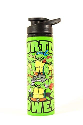 Silver Buffalo NT1389ST Nickelodeon Teenage Mutant Ninja Turtles Turtle Power Stainless Steel Water Bottle, 25-Ounces]()