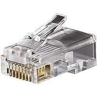 D-Link Plastic Cat 5 RJ 45 Cable Connector - Pack Of 100 Pieces (Transparent)