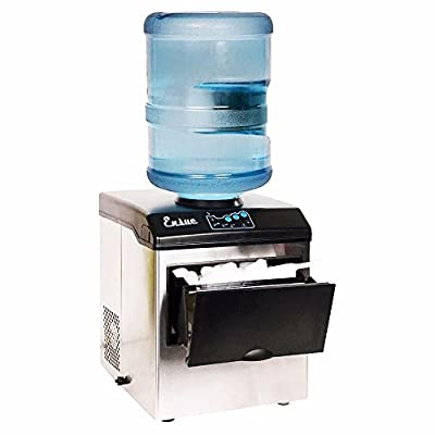 Honesty Water Dispenser w/Built-In Ice Maker Machine Portable Counter Stainless Steel