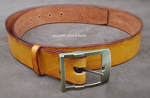 Plus size Handmade vegetable tanned Leather belt by Evi Craft
