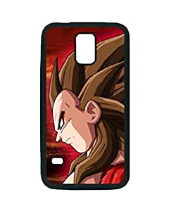DRAGON BALL Z ANIME COOL GOKU ~ Fashion Durable Unique RUBBER Durable Case Cover Skin for Samsung Galaxy S5 i9600 - Black Silicone Case / ABCone Tpu Protective S5 Case