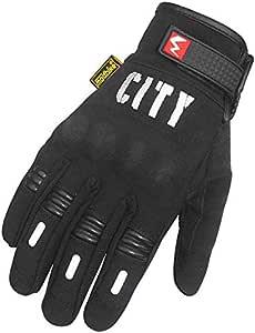 Madbike Motorcycle Full Finger Gloves - L,Black