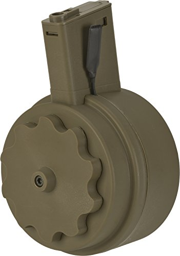 Evike - G&P Attack Type Electric Winding 1500 Round M4 Drum Magazine (Color: Flat Dark Earth) (Best Drum Mag For Ar 15)