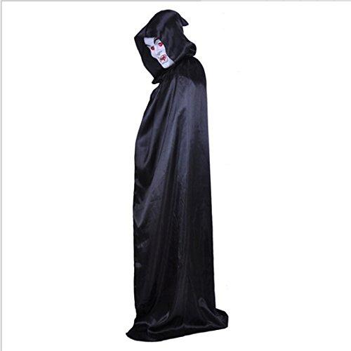 [YOKIRIN Unisex Adult Kids Halloween Witch Cloak God of Death Hooded Cloak Role Knight Fancy Cool Horror Robe Cosplay] (Top Diy Halloween Costumes 2016)