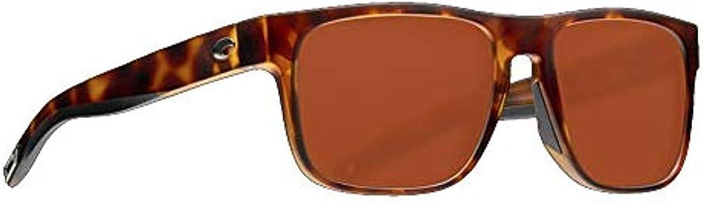 Costa Spearo Matte Tortoise Plastic Frame Copper Lens Unisex Sunglasses SPO191OCP