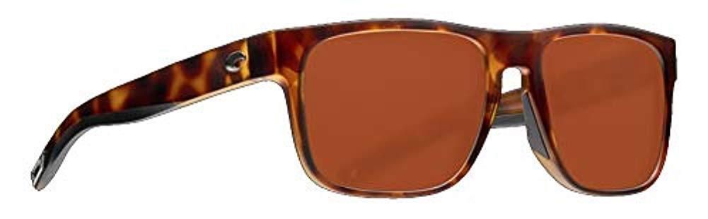 Costa Spearo Matte Tortoise Plastic Frame Copper Lens Unisex Sunglasses SPO191OCP by Costa Del Mar