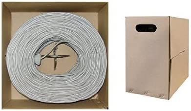ED83548 4 Pair 23AWG CAT6 550 MHz Stranded Bulk Cable 1000 Feet PVC,Black