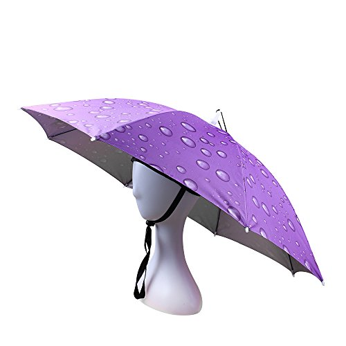 JANGANNSA Fishing Umbrella Hat Folding Sun Rain Cap Adjustable Multifunction Outdoor Headwear -