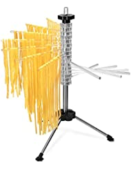 Navaris Collapsible Pasta Drying Rack - Tall Spaghetti Noodle Dryer Stand for up to 4.5 lbs of Homemade Noodles