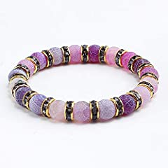 Perimeter:About 18cm,suitable for 15-16cm Wrist is_customized:Yes Style:Trendy Material:Stone Brand Name:Niceer