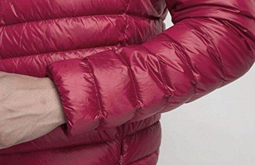 Packable Leggero Di Puffer Caldo Piumino Hoodie Eku Rosso Vino L Noi Maschile FFpBwqEn4x