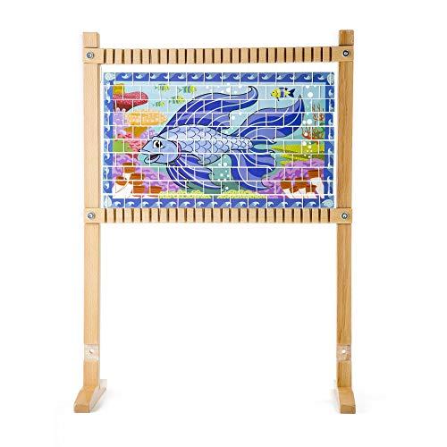 "41UB4lfKFIL - Melissa & Doug Wooden Multi-Craft Weaving Loom, Arts & Crafts, Extra-Large Frame, Develops Creativity and Motor Skills, 16.5"" H x 22.75"" W x 9.5"" L"