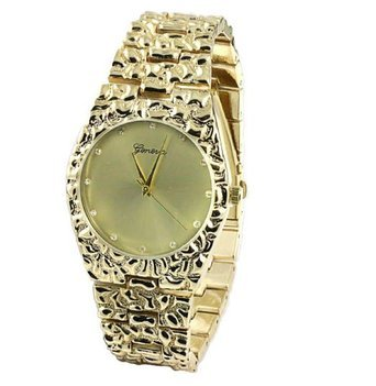 Mens 14k Gold Geneve Watch - 3