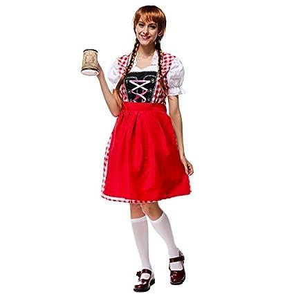 Bš¢varo nacional traje rojo Oktoberfest de Alemania traje ...