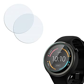 Donkeyphone - 2x PROTECTOR DE PANTALLA ULTRA CLEAR FLEXIBLE PARA MOTOROLA MOTO 360 SPORT 45 MM. RELOJ WEARABLE INTELIGENTE: Amazon.es: Electrónica