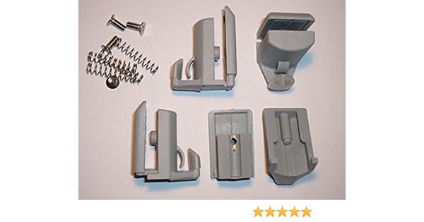 4 gu/ías//rodillos//ruedas//rieles para ganchos de mampara de ducha YQ-1011