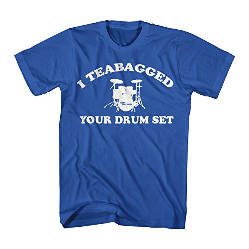 - Step Brothers Men's Step Brothers Cooper Teabag Graphic T-Shirt, Royal Blue, Medium