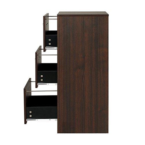 DEVAISE 3-Drawer Wood Filing Cabinet, Letter Size/A4, Dark Oak by DEVAISE (Image #4)