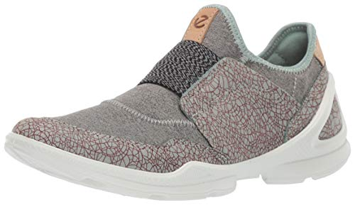 ECCO Women's Biom Street Slip On Sneaker, ice Flower/Wild Dove, 39 M EU (8-8.5 US) (On Ice Slip The)