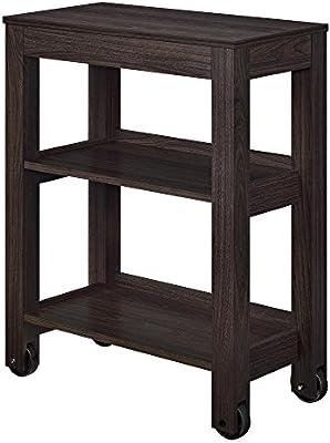 Altra Furniture Altra Parsons Wide Storage Cart, Espresso: Amazon.ae