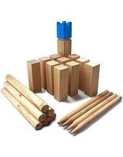 Ocean 5 Kubb - Original Wikinger Wurfspiel für Draußen - Holz Schach Kegel Spiel aus Skandinavien - Das Geschicklichkeitsspiel für Den Sommer