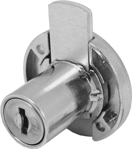 FJM Security 3753-KA Disc Tumbler Deadbolt Lock with Chrome Finish, Keyed Alike by FJM Security