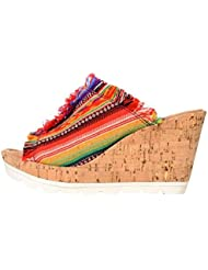 Minnetonka Womens York Wedge Sandals
