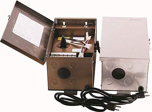 Low Voltage Landscape Transformer 600W, 120V, Stainless Steel,Input: 120VOUTPUT: 0V-12V-13V-14V-15V,ETL Listed, Timer/PHOTOCELL Adaptable,5 Years Warranty