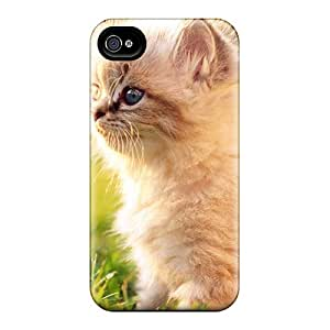 Angelerson Snap On Hard Case Cover White Persian Kitten Outdoors Protector For Iphone 4/4s