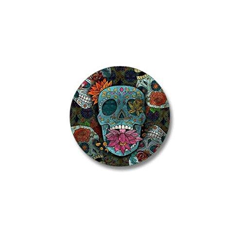 CafePress Sugar Skulls Design Mini Button 1