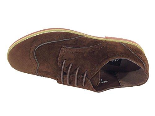 Alberto Mens Robe En Daim Classique Wingtip Oxfords Chaussures À Lacets (dak02) Marron