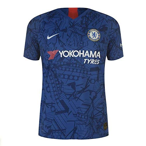 Chelsea Home Shirt - Chelsea Authentic Vapor Match Home Football Soccer Jersey 2019-20 (Medium 38-40