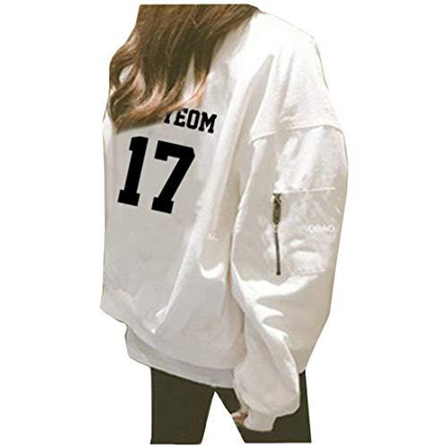 Qualità Stampate Lunga White Con Plus Outerwear Alta Prodotto Chic Donna Giubbino Di Ragazza Cappotto Digitale Moda Autunno Primaverile Casual Giaccone Eleganti Sciolto 7 Manica Cerniera nfOwgTWUx