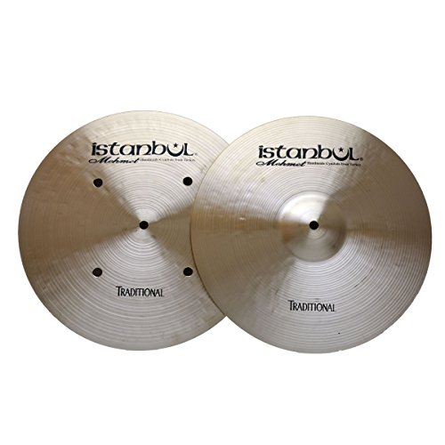 Istanbul Mehmet Cymbals Traditional Series HHFH13 13-Inch Traditional Flat Hole Bottom Hi-Hat Cymbals ()