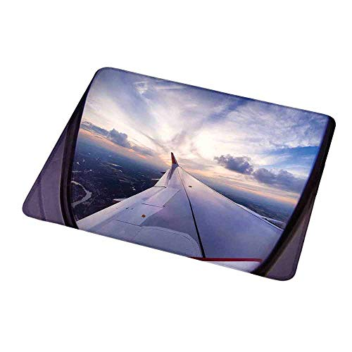 - Personalized Custom Gaming Mouse Pad Airplane Decor Airplane Travel Time is Sunset Business Distant Evening Float Holiday Horizon Journey Window